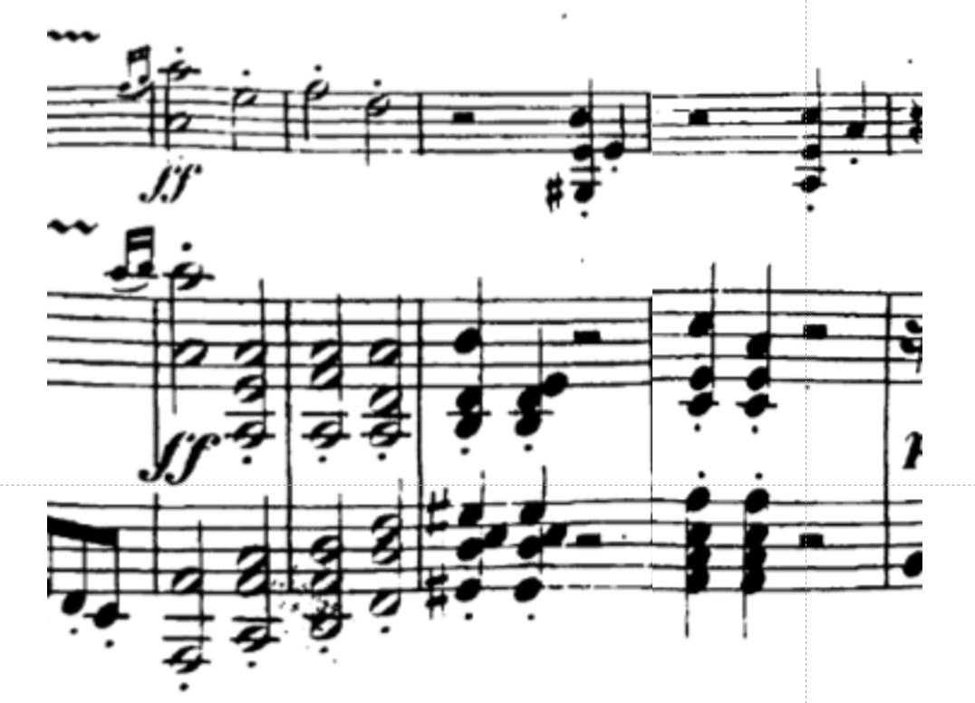 Excerpt from Beethoven's Violin Sonata No. 1 in D Major, Op. 12 number 1.