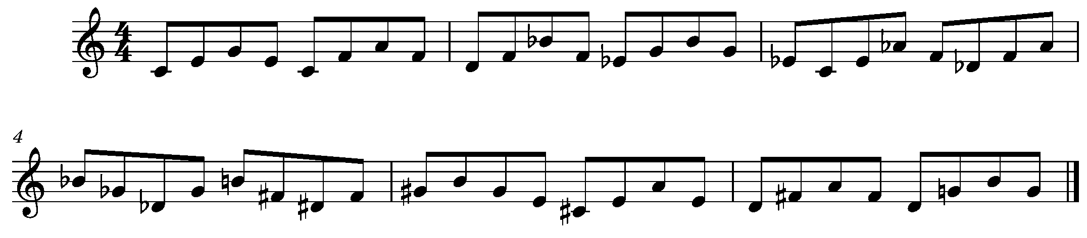 Ex. 1 Triads Within a Major 7th