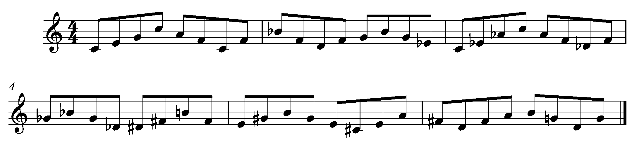 Ex. 2 Triads Within an Octave