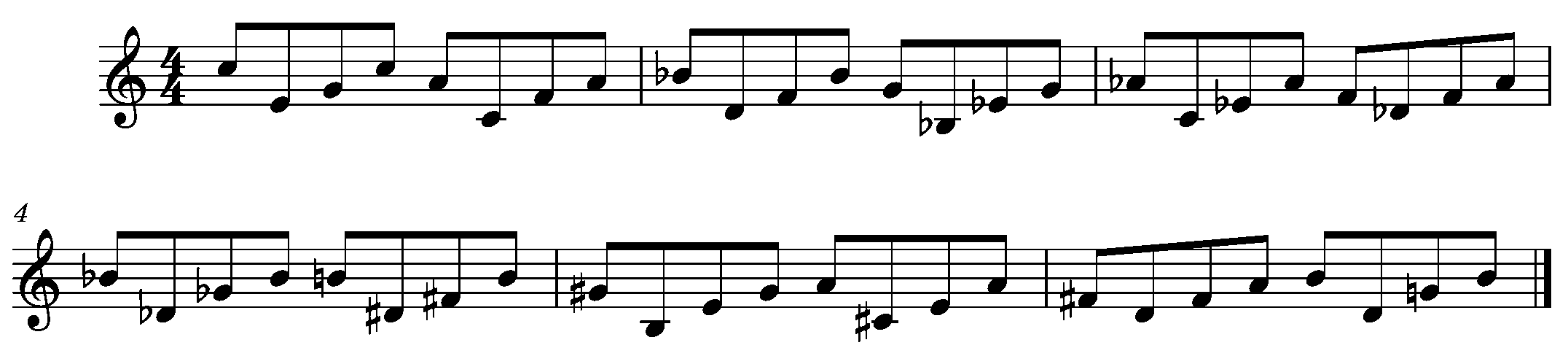 Ex. 4 Triads Pivoting Within a Major 10th